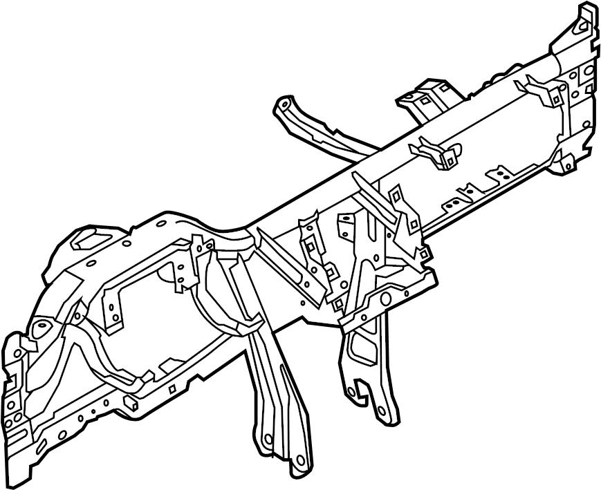 Ford Explorer Panel. Reinforcement. Instrument