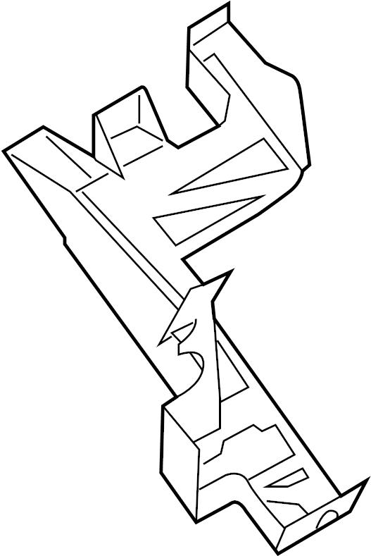 Ford Transit-250 Junction Block Bracket. PASSENGER
