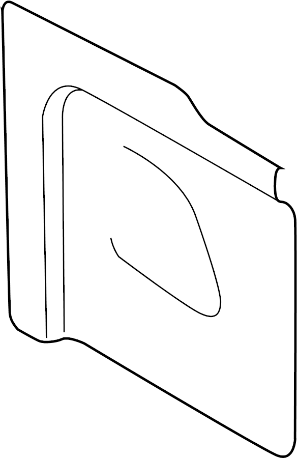 Ford Transit-250 Door Trim Molding (Lower). PASSENGER SIDE
