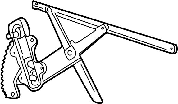 Ford Explorer Sport Trac Window Regulator. Power, DOOR