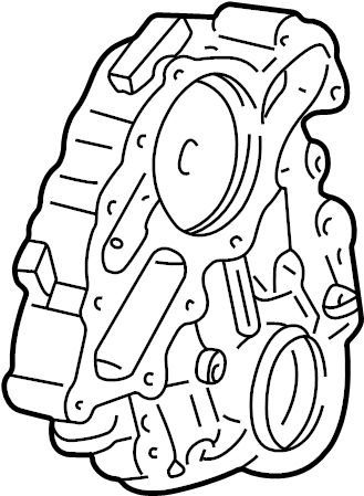 Ford Mustang Engine Timing Cover (Front). LITER, BEARINGS