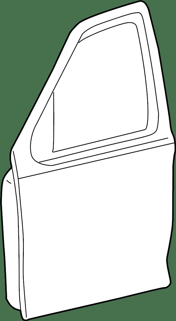 Mercury Mariner Door Shell (Front). W/o keypad