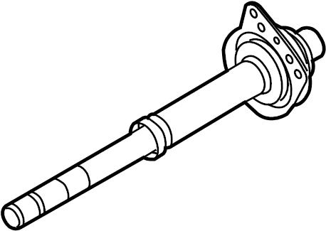 Ford Escape Cv intermediate shaft. Trans, axle, axles