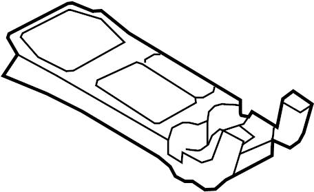 Ford Escape Console Trim Panel. XLS, w/SYNC, w/manual