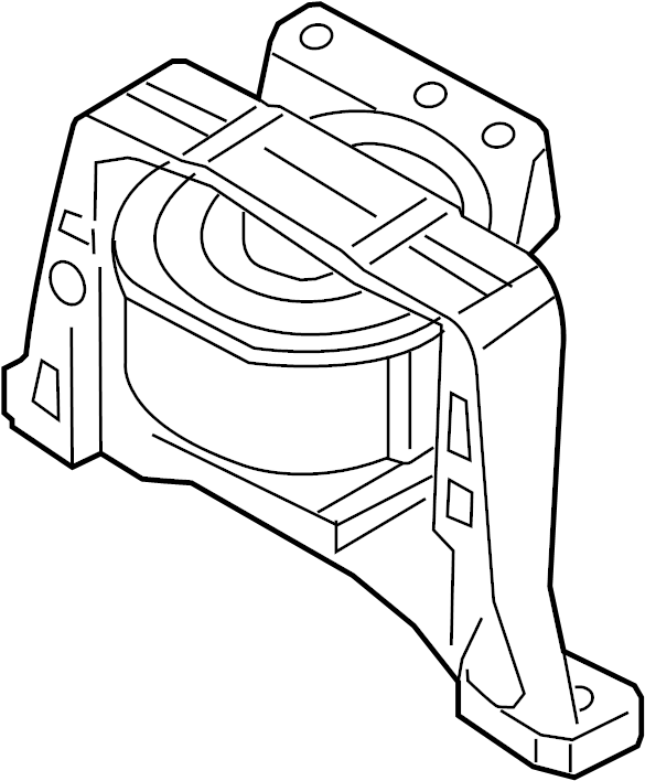 Ford Escape Engine Mount (Front). LITER, BEARINGS
