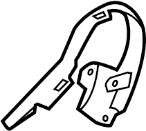 Ford Escape Seat Track Cover (Front). MANUAL SEAT, DRIVER