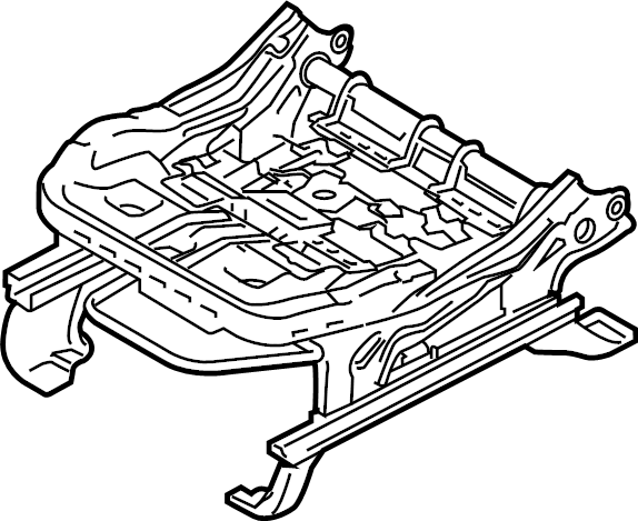Ford F-250 Super Duty Seat. Frame. Track. (Front). BUCKET