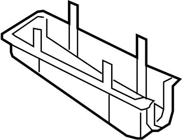 Mercury Mariner Fuse Box Cover (Lower). Panel