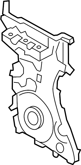 Lincoln MKZ Engine Timing Cover (Front). Hybrid, LITER