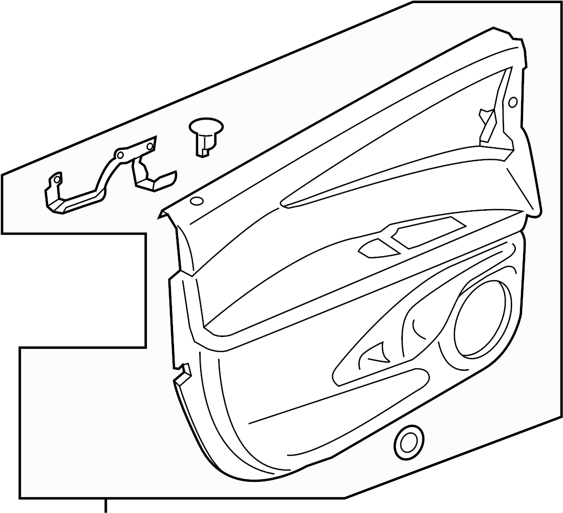 Lincoln MKX Door Interior Trim Panel (Lower). Cashmere