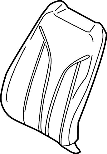 Lincoln MKX Seat Back Cover. Spec, Vinyl, Cappucino