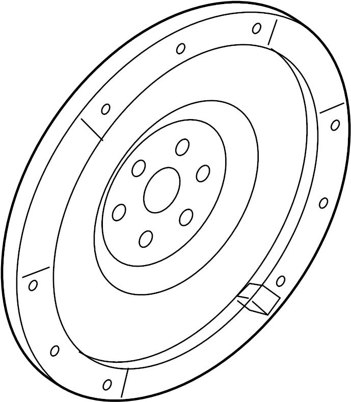 Ford Fusion Clutch Flywheel. 2.3 LITER, MANUAL TRANS