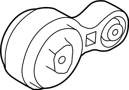 Ford Fusion Engine Torque Strut. 2.5 LITER, MANUAL TRANS