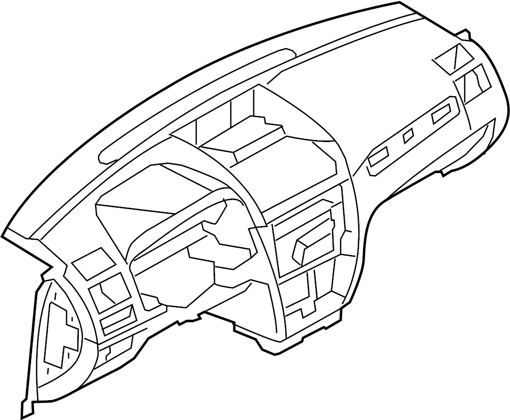 Mercury Milan Dashboard Panel. Black, Charcoal, Instrument