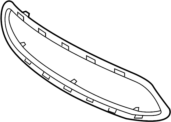 Ford Fiesta Grille Molding (Front, Lower). 2011-13