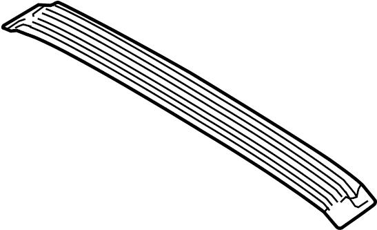 Ford Fiesta Roof Bow. HATCHBACK, w/o sunroof. SEDAN, w/o