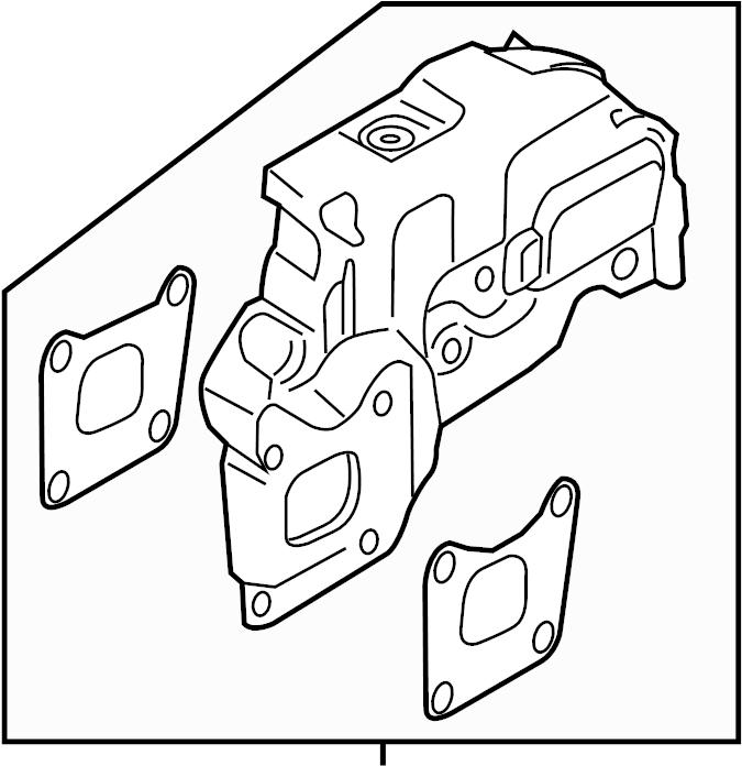 Ford Focus Turbocharger Mount Heat Shield. 1.0 LITER