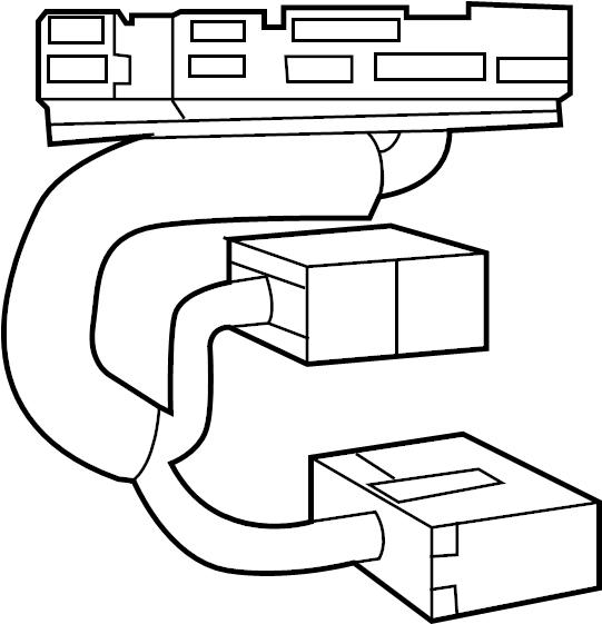 Ford Explorer Radio Wiring Harness. W/O INTERCEPTOR, type