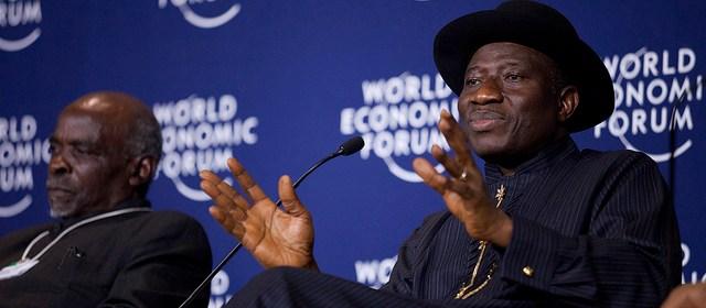 Nigeria President, Goodluck Jonathan, at the World Economic Forum on Africa, held in Ethiopia in 2012 [worldeconomicforum]