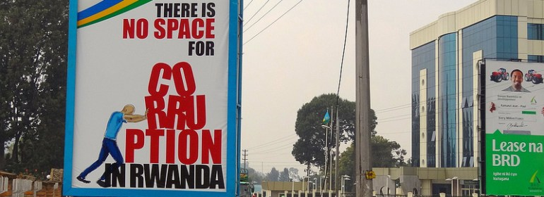 Billboards around Rwanda promote the government's zero tolerance of corruption.