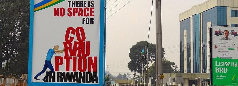Billboards around Rwanda promote the government's zero tolerance of corruption.