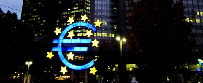 Euro statue outside the European Central Bank in Frankfurt