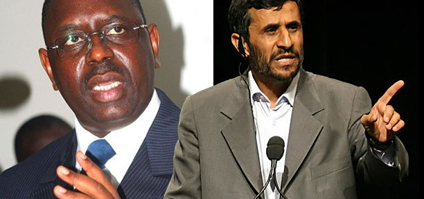 Presidents Macky Sall and Mahmoud Ahmadinejad