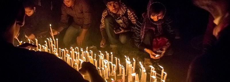 Kolkata version of Candle Light march from Esplanade to Rabindra Sadan on 22 Dec, 2012, against The Delhi Rape Case