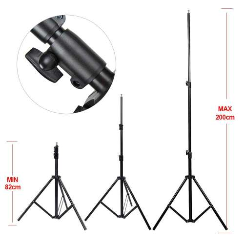 small resolution of  foresight photography light stand studio 3 section stand 200cm 3 compressed
