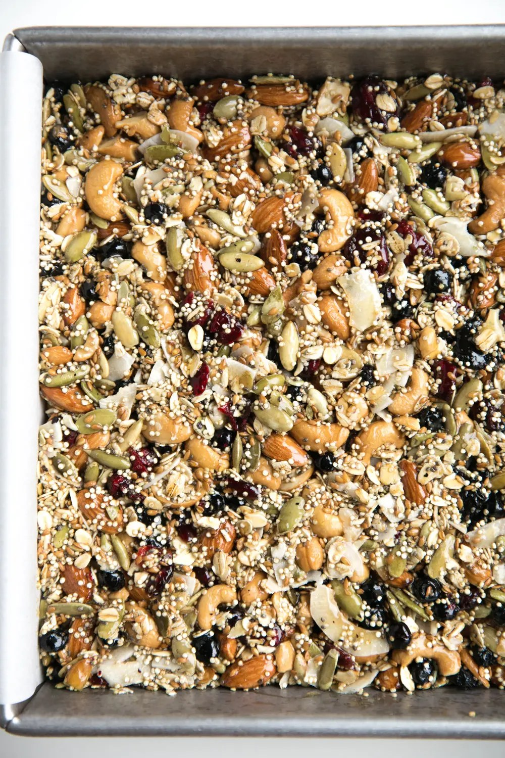 Packed full of nuts, seeds, dried fruit, and oats, these perfectly sweet Superfood Oat Bars are gluten-free, dairy-free, and make the best snack ever!