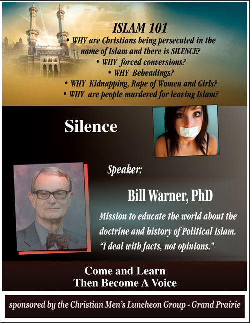 Bill Warner - Political Islam, Voice for the Voiceless