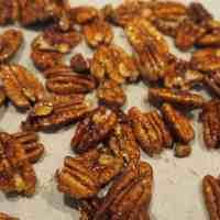 Simple, Low Sugar Candied Pecans (Nuts)