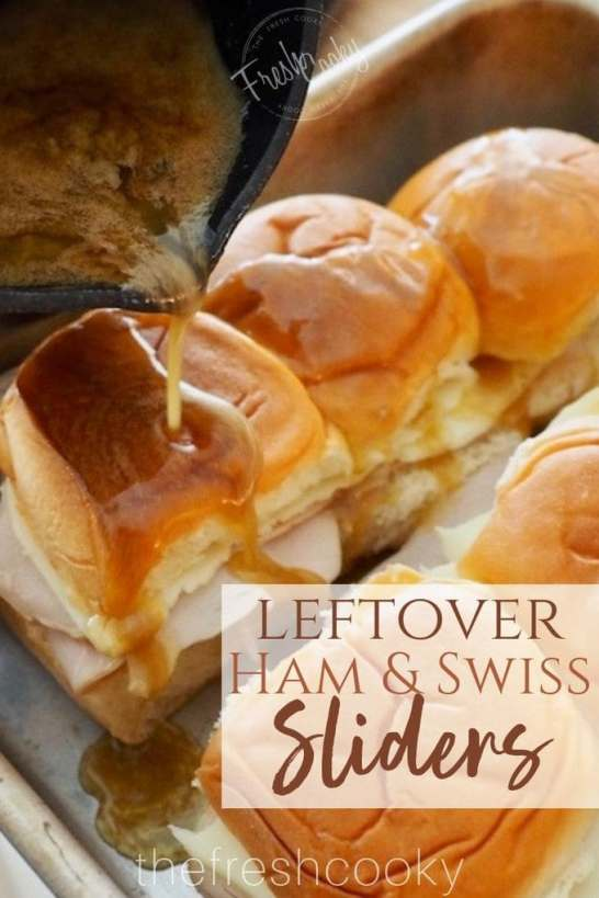 Leftover Ham & Swiss Sliders | www.thefreshcooky.com