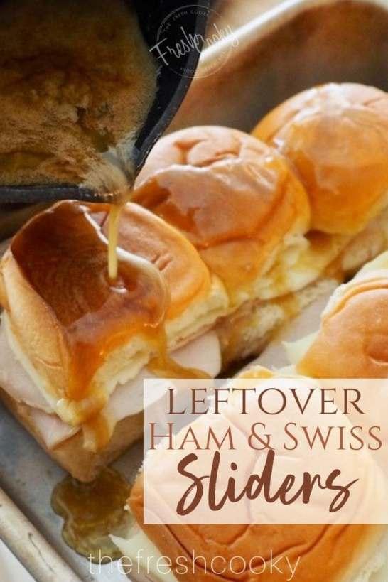 Leftover Ham & Swiss Sliders | www.thefreshcooky.com