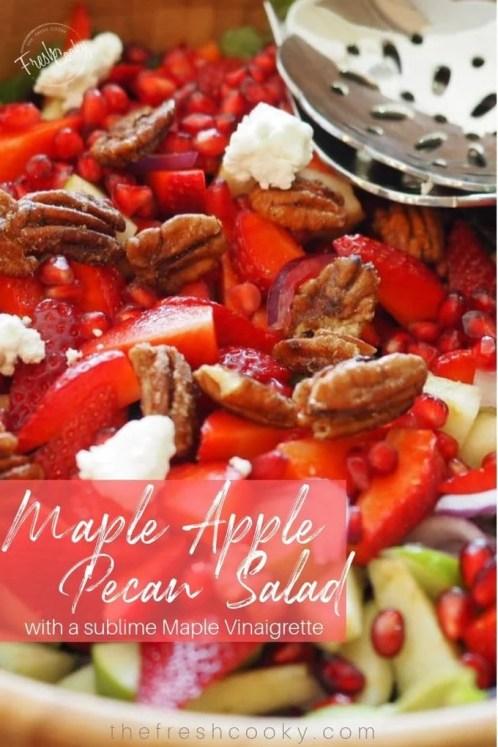 Maple Apple Pecan Salad | www.thefreshcooky.com