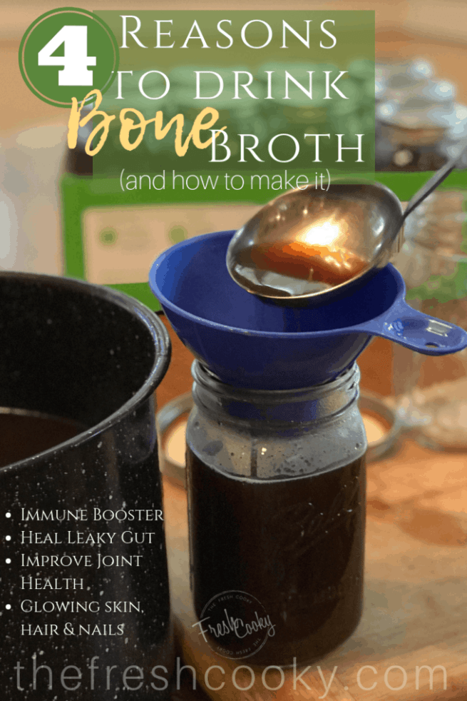 4 Reasons for you to drink Bone Broth! www.thefreshcooky.com