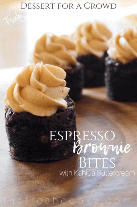 Espresso Brownie Bites | www.thefreshcooky.com