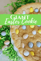 Giant Easter Cookie Cake | www.thefreshcooky.com