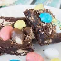Robin Egg Whopper Brownies
