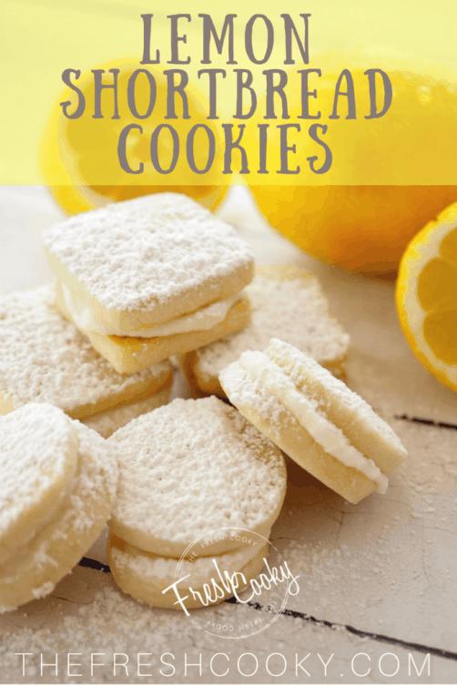 Lemon Shortbread Sandwich Cookies   www.thefreshcooky.com #lemon #shortbread #sandwichcookie