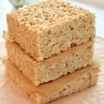 Browned Butter Rice Crispy Treats | www.thefreshcooky.com #ricecrispytreats #brownedbutter #ricekrispietreats #vanillabean