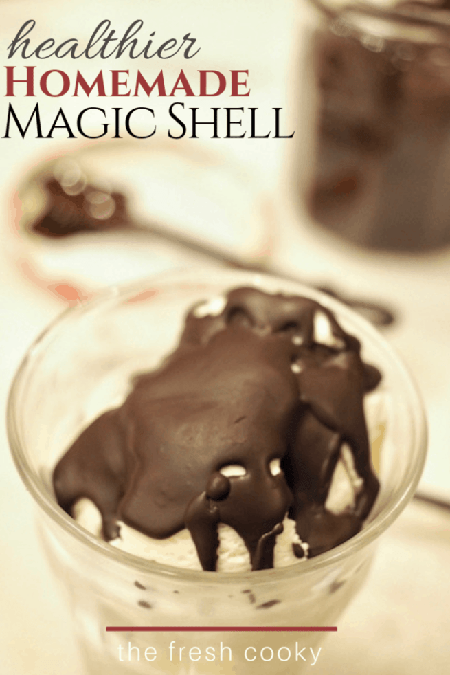 Homemade Magic Shell | www.thefreshcooky.com