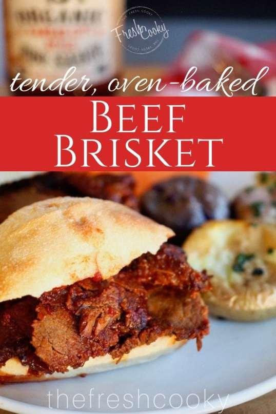 tender, Oven Baked, Beef Brisket | www.thefreshcooky.com