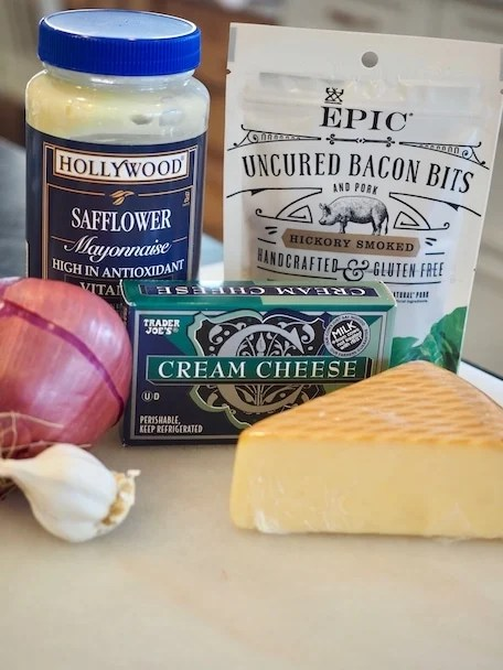 Ingredients for Smoked Gouda Dip | www.thefreshcooky.com