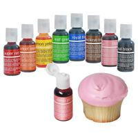 Chefmaster Food Coloring Drops, 8 Vibrant Cake Decorating Colors, Easter Food Coloring for Cookies, Bath Bomb Colorant, Egg Dying Set, Non Food Gel Dye Drops, Edible Food Colors for Easter & Holidays