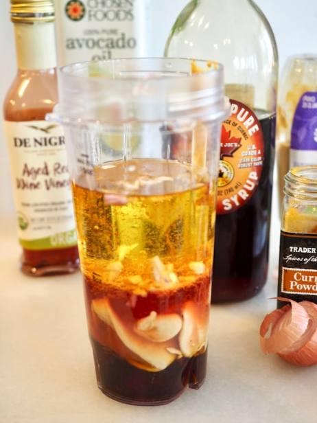 ready for blending maple dijon vinaigrette | www.thefreshcooky.com