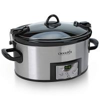 Crock-Pot 6-Quart Cook & Carry Programmable Slow Cooker with with Digital Timer, Stainless Steel