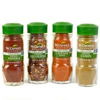 McCormick Gourmet Organic Red Peppers & Cumin Everyday Basics Variety Pack 4 count