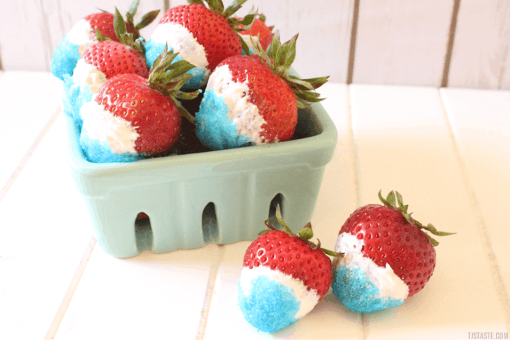Red, White, & Blue Strawberries • THM • Sugar Free • Low Carb