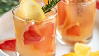 Rosemary Brown Derby (bourbon and grapefruit cocktail)